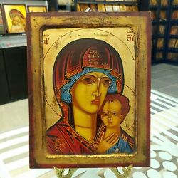Orthodox Icon Hand Painted Icon Greek Byzantine Mother Of God