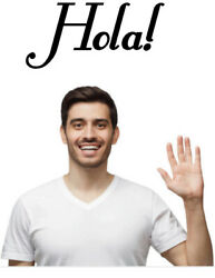 Hola Hello Spanish Kitchen Removable Bedroom Entry Wall Art
