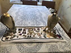 Lot Of Vintage Costume Jewelry 60+ Items Some Signed
