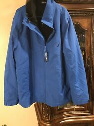 Nautica 3 In 1 Jacket Mens Size 3x Royal Blue Lined Water Resistant New Ret 179.