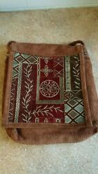 Gypsy Wings Italian Quilt Crossbody Tote Bag with Rare Dragon Pin