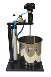 Pneumatic Mixer With Stand 5 Gallon Tank Barrel Paint Stainless Steel Mixer Tool
