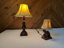 Elephant Lamps, Set Of 2 Table Lamps, Excellent Condition