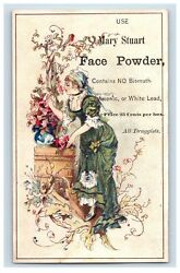 1880's Lovely Mary Stewart Face Powder Lot Of 3 Victorian Trade Card P130
