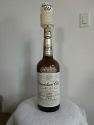Canadian Club Giant 1 Gallon Whiskey Bottle With Tapper Pump Approx. 25 Tall