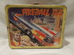 Vintage Fireball Xl5 Metal Lunch Box With Thermos 1964