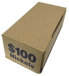 50 Roll Storage Shipping Transportation Boxes For 50 Nickel Coin Rolls Blue Lot