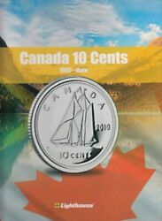 New Album For Collecting Canada 10 Cent Coins 1953-2016 + Blank Lighthouse Vista