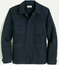 Nwt J.crew Wallace And Barnes M51 Field Jacket Navy Blue Mens Size Large Ah827