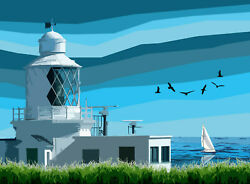 St Annand039s Head Lighthouse Wales Limited Art Print By Sarah Jane Holt