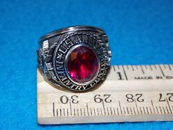 Vintage - U.s.army Ring - Size 9 - Follow Me - Nos - Life Time Alpha Brand