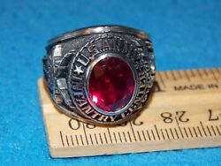 Vintage - U.s.army Ring - Size 10 - Follow Me - Nos - Life Time Alpha Brand