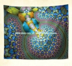 psychedelic trippy wall hanging tapestry window curtain wall decor