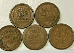 United States 1912d 1916 1918s 1925 S 1930 S One Cent Coins Key Dates