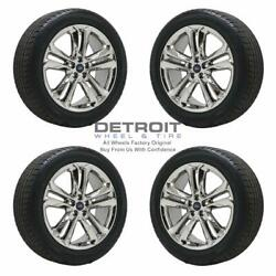 20 Ford Edge Pvd Bright Chrome Wheels Rims And Tires Oem Set 4 2015-2019 10047