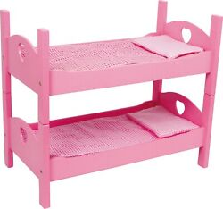 Small Foot Bunk Bed For Dolls Pink 2871 Doll Dolls Wooden Wood Toy Beds