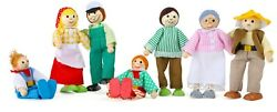 Small Foot Bending Dolls Farm Family 10046 Bendy Doll Wood Wooden Childrens Toy