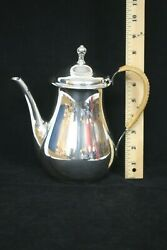 International Silver Co. Sterling Silver Teapot W/ Wicker Detailing Holds 8 Cups