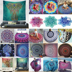 Indian Mandala Tapestry Wall Hanging Bedspread Soft Ethnic Blankets Throw Mats