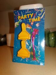 Vintage Nude Naked Woman Colored Plastic Stir Sticks New In Package Party Time.