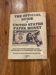 The Official Guide Of United States Paper Money 2nd Edition Vintage Book