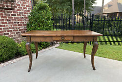 Antique French Bakerand039s Table Sofa Table Console With Drawer Oak Louis Xv Island