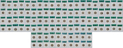 1999-2008 P And D State Quarter Set Icg Ms-67 Green Label - Complete Set