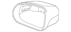 Genuine Volvo Mirror Cover 39792453 Paint Code 714 Osmium Gray