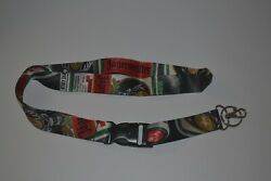 Jagermeister Advertising Lanyard W/ Detachable Clip And Key Ring Badge Holder New