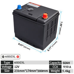 65d23l 12v 60ah 950cca Lithium Battery Lifepo4 For Automobile Bms Deep Cycle