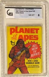 1975 Topps Planet Of The Apes Unopened Wax Pack Gai 8 Nm/mt Condition