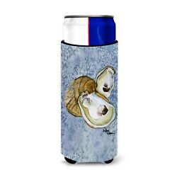 Oyster Cool Blue Water Ultra Beverage Insulators For Slim Cans 8152muk