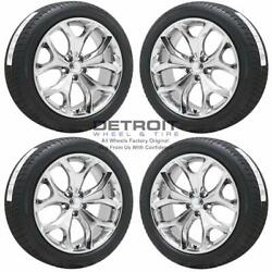 20 Dodge Challenger Pvd Bright Chrome Wheels Rims And Tires Oem Set 4 2014-2...