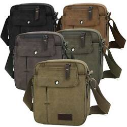 Sport Crossbody Bag Canvas Tote Bags Casual Shoulder Bag Handbag Pouch Messenger $12.49