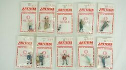 Arttista O Scale Lot Of 10 Pewter Figures Man Woman Boy Old Couple Sitting B18-2