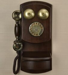 Wall Mounted Vintage Telephone Phone With Drawer, Button / Rotary Dial, Adjustab