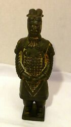 Terracotta Soldier Qin Dynasty Army 11 Clay Art Pottery Figurine Bronze Look