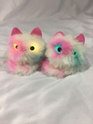 Pomsies Plush - Sound Interactive 14 Lot Of 2 Reactions Wrist Wearable