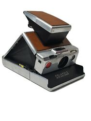 Vintage Polaroid Sx-70 Land Camera Chrome And Leather Case Collectible Photography
