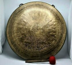 23 Inch Large Gong Bell Prayers Gong Handmade In Nepal - Home And Living