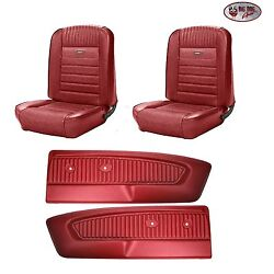 Pony Seat Upholstery F/r - 1964 - 66 Ford Mustang + Pony Door Panels - Any Color