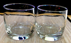 Jack Daniels Whiskey Rocks Glass Jess B. Motlow Master Distiller Set Of Two 2