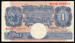 Bank Of England One Pound Banknote Looks Unc