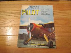 Private Pilot Aviation Flying Airplanes Planes Aircraft Magazine Apr May 1966