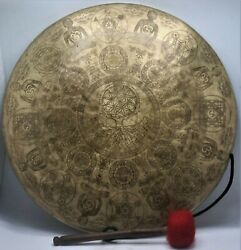 23 Inch Beautifully Hand-carved Gong Bell Tibetan Prayers Gong - Home And Living