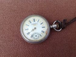 Antique Burris And Son Cherokee, Ia 15 Jewels Ore Silver Pocket Watch
