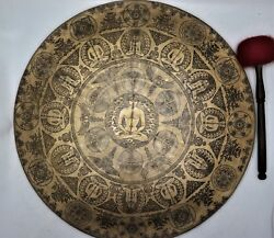 23 Special Hand-carved Gong Bell Prayers Gong For Meditation - Home And Living