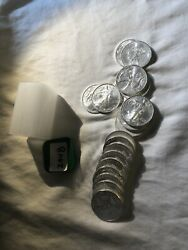 Roll Of 20 Coins 2008 American Silver Eagles