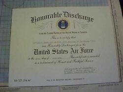 Original Usaf Honorable Discharge For Avg Flying Tigers Ace July 1942