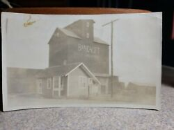 Old Photograph Picture Of Bancroft Iowa Ia Elevator Coop Kossuth County